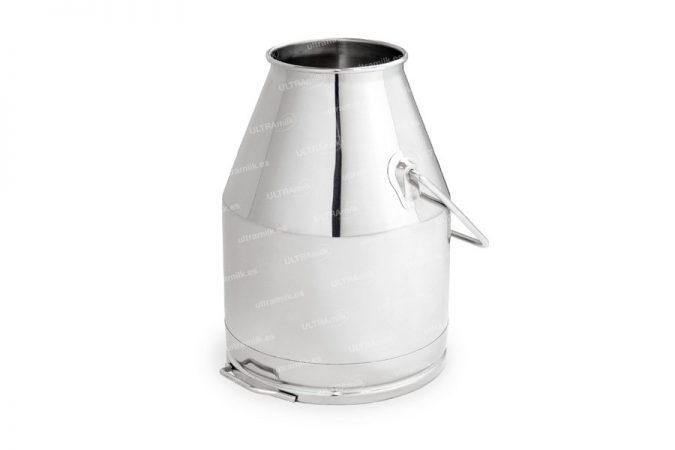 Cubo inox de 25 litros para equipos de ordeño. Fabricado en acero inoxidable AISI 304.
