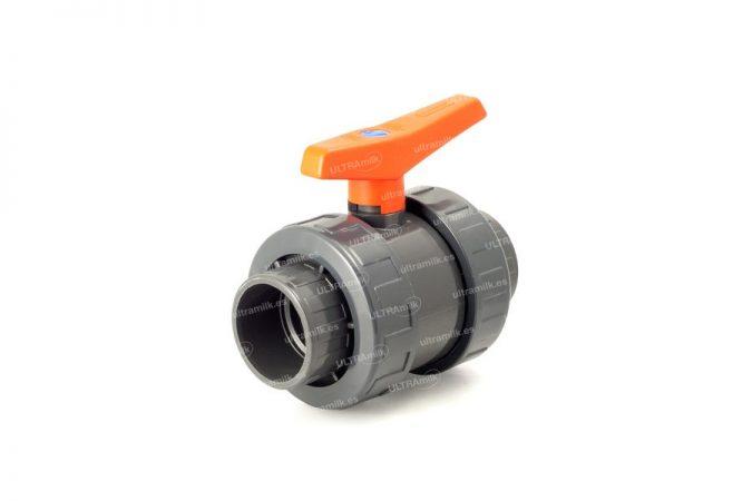 Válvula de bola. Para tubería Ø75 y Ø90 mm.