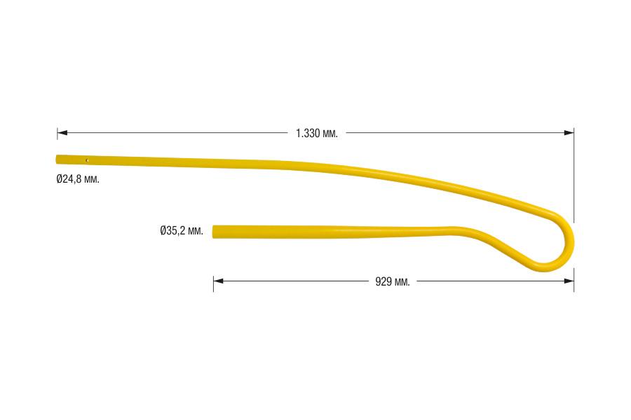 Sacudidor amarillo largo adaptable a Gregoire