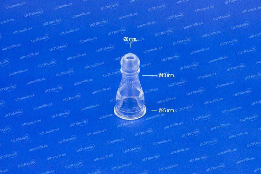 Visor de leche transparente adaptable a Miele.