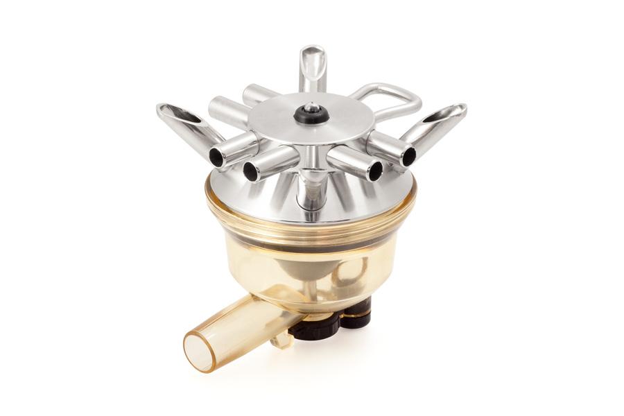 Colector adaptable a DeLaval HCC 150. Caños Ø12 mm.