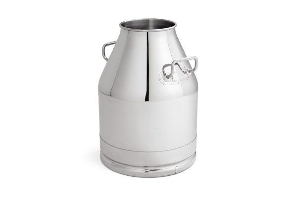 Cubo inox de 30 litros para máquinas transportables. Fabricado en acero inoxidable AISI 304.