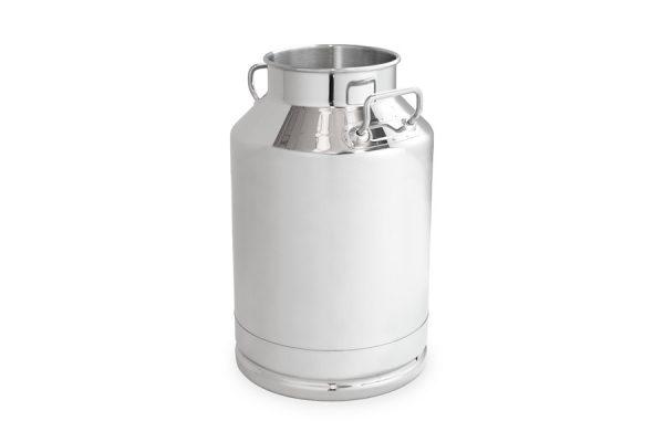 Cántara inox de 40 litros para equipos de ordeño y máquinas transportables. Fabricado en acero inoxidable AISI 304.