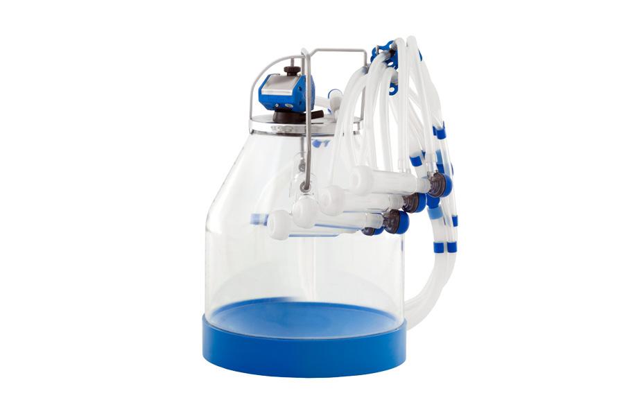 Equipo de ordeño SC para cabras con cubo transparente 30 litros