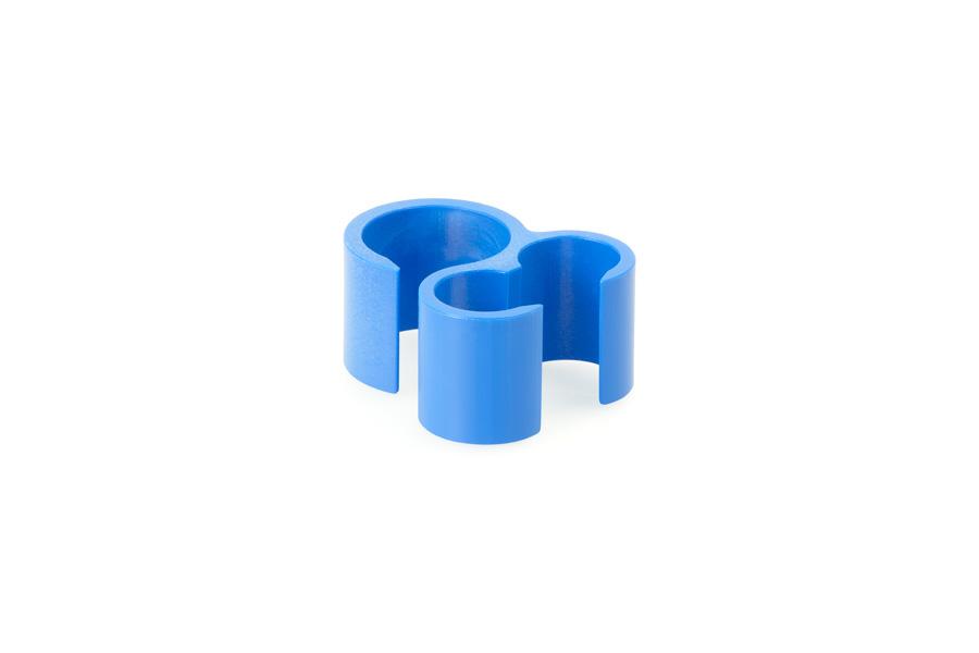 Pinza de sujeción para tubos sencillo-doble
