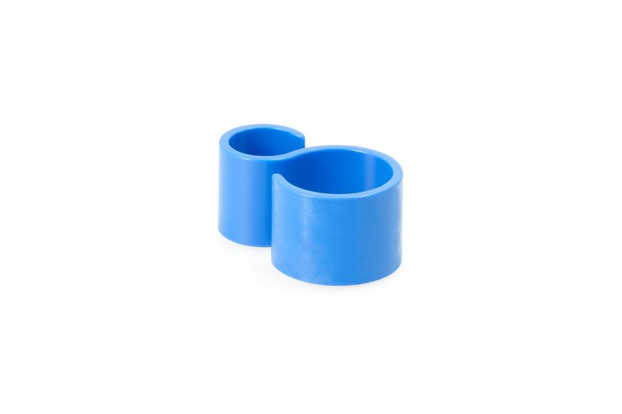 Pinza de sujeción para tubos sencillos