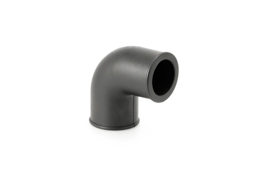 Codo de goma. Reducción Ø50 / Ø40 mm.