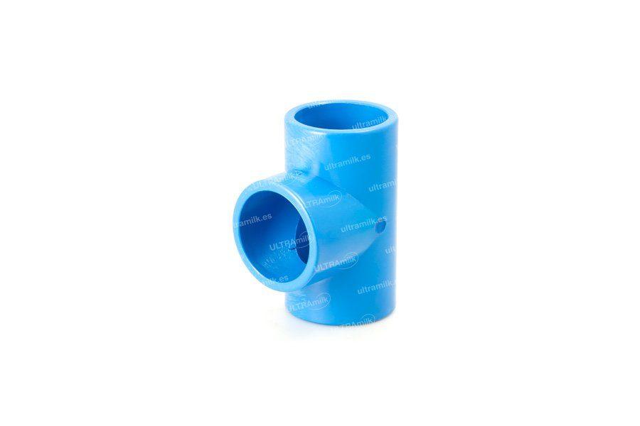 Unión 'T' de PVC para tubo Ø75 mm.