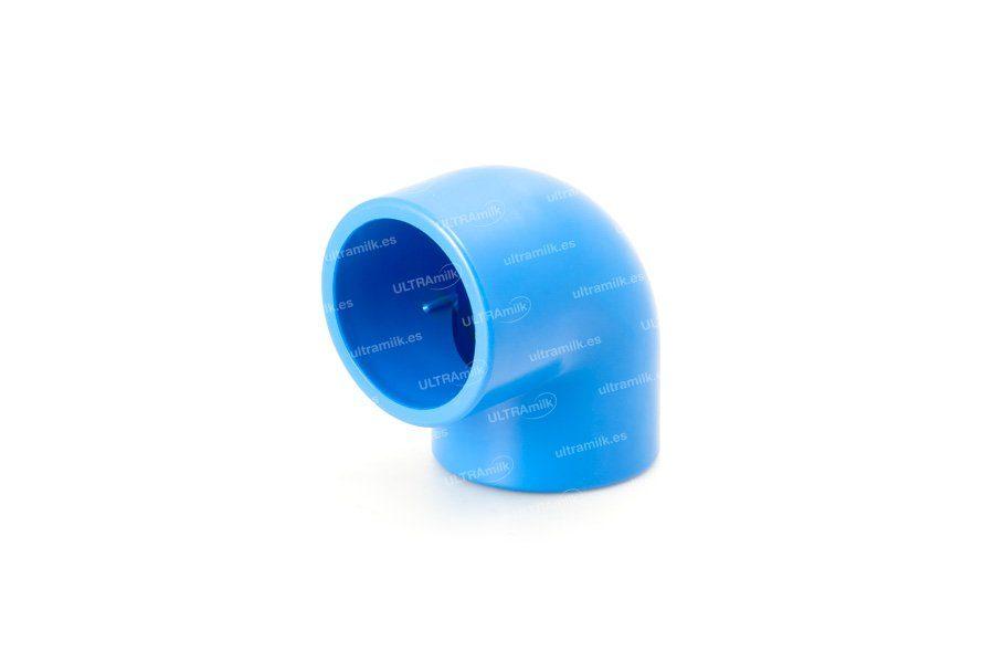Codo de PVC a 90º. Para tubería Ø75 y Ø90 mm.