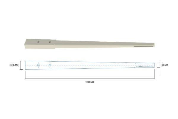 Sacudidor blanco rectangular adaptable a Alma