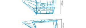 Cangilónes medianos compatibles con Braud / New Holland. Referencias compatibles: 944023785, 944029647, 944023786, 944029648.